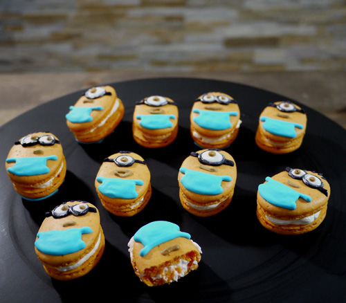Despicable me 2 minion<strong>s Dessert&#8221; width=&#8221;500&#8243; height=&#8221;438&#8243; class=&#8221;alignnone size-full wp-image-2002&#8243; /></a></p> <p>I love Despicable MeMinions after watching the movie and so excited aboutDespicable Me 2 movie this summer! Also, I believe lots of kids will want to have a Despicable Me theme parties this summer to add the joy to the summer break!Hope this Inspired Macaron recipe would help you to host a cute little party!</p> <p>You also can check out my Youtube Video HERE</p> <p><object width=